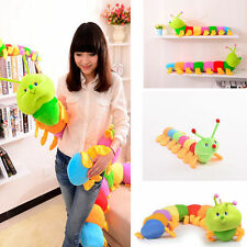 Colorful Inchworm Soft Caterpillar Lovely Developmental Child Baby Toy Doll SU