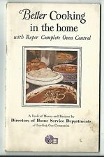 1929 Cookbook Better Cooking In The Home Roper Complete Oven Control Rockford IL