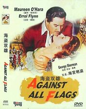 Against All Flags All Region DVD Errol Flynn, Maureen O'Hara, Anthony Quinn NEW