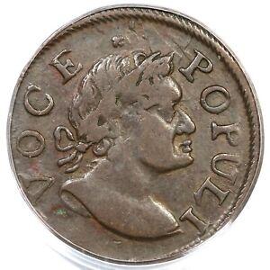 1760 N-9 R-3 PCGS XF 40 CAC Voce Populi Colonial Copper Coin 1/2p