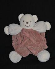 Peluche Doudou Ours Brun Marron KALOO Plume Beige Teddy Bear GM 30 Cm  TTBE