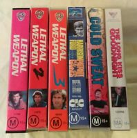 Bulk VHS Lot - 6 Classic Titles: Lethal Weapon, Cold Sweat, Patriot Games+++
