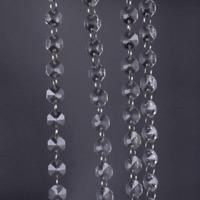 1M Clear Glass Crystal Bead Garland Chandelier Hanging DIY Wedding LightSupplyS!