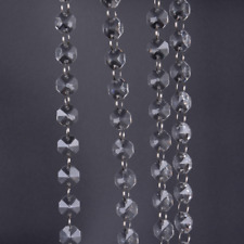 1M Clear Glass Crystal Bead Garland Chandelier Hanging DIY Wedding Light EDZY