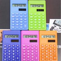 Mini Calculator 8 Digits Display Dual Power Supply Cute Candy Calculadora S TPI