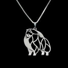 ❤️ Halskette mit Anhänger Zwergspitz, Pomeranian, versilbert, pendant
