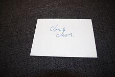 CLAUDE CHABROL (+ 2010) signed Autogramm auf 10x15 cm Karteikarte InPerson LOOK
