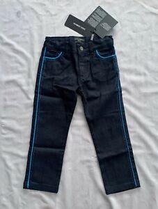 NWT DOLCE & GABBANA Kids BOYS BLUE STRIPE BLACK DENIM PANTS / TROUSERS SZ 3
