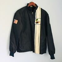 NEVER WORN Vtg Dead Stock Ford Mustang Shelby Cobra Racing Jacket Faux Lined P42
