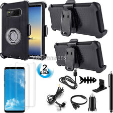 Shockproof Hybrid Rugged Hard Case Protective Cover With Belt Clip Holster Stand