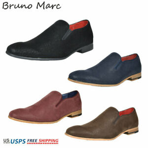 Bruno MARC Mens Casual Shoes Suede Leather Slip On Fashion Loafers Boat Shoes