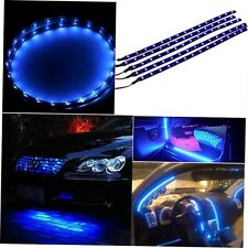 30cm Waterproof 15 Blue LED Car Vehicle Motor Grill Flexible Light Strips 12V CY