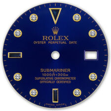 Rolex Submariner 2 Tone Blue Color Serti Sapphire Diamond Dial