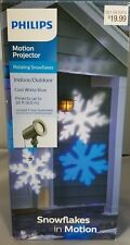 Philips Christmas Led Motion Projector Rotating Snowflakes Cool White/Blue