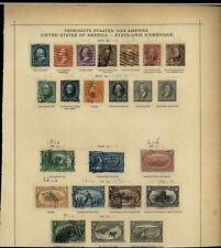 USA 1894-1898 Album Page Of Stamps #V15362