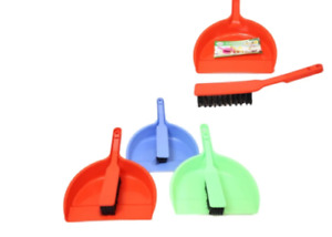 Household Cleaning Dustpan and Small Brush Multipurpose Use 3 Colours 1 Pack 27c