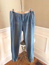 NWT Rag & Bone Drakes Denim Pajama Jeans with Elastic at Ankles Size 26