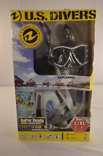 U.S. Divers Go Pro Ready Camera Mount Silicone Snorkeling Set White Adult L/XL N