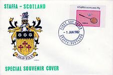 GB Locals - Staffa 3798 - 1982 SPORTS - BADMINTON 35p imperf single on FDC