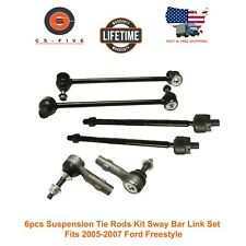 6Pcs Suspension Tie Rods Kit Sway Bar Link Set Fits 2005-2007 Ford Freestyle