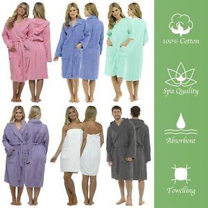Mens Bath Robe Ladies Bath Robe 100% Cotton Toweling Bath Robe Toweling Robe