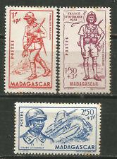 Madagascar Scott #B8-10 MH Army 1941