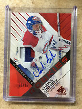 16-17 UD Upper Deck SP Game Used SPGU CHARLIE LINDGREN RC Rookie Auto Patch /25