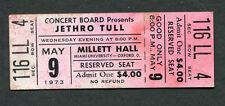 1973 Jethro Tull Unused Full concert ticket A Passion Play Millett Hall OH Rare