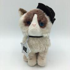 "Gund Grumpy Cat 7"" Plush With Black Fedora Hat And ""No"" Star Stuffed Animal"