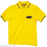 Official VR46 Polo - Yellow Valentino Rossi Polo Neck T-Shirt Casual Top 100201