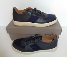 Mens New H by Hudson Leather Shoes Navy Trainers RRP £60 UK Size 10.5