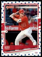 2020 Donruss Independence Day #129 Mike Trout - Los Angeles Angels