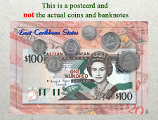 Postcard: East Caribbean States Circulating Coins and Currency (Banknote) 2013
