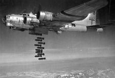 WWII B&W Photo Boeing B-17 Bombs Away World War Two Army Air Corps WW2  / 5162