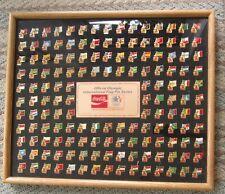 COCA COLA COKE 1984 OLYMPIC 150 FLAG PIN SET SERIES L E
