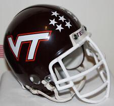 1983 - 1986 Virginia Tech Hokies Custom Riddell Mini Helmet Bruce Smith Facemask