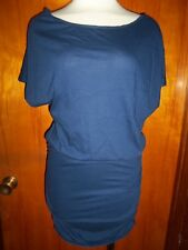 580839701f Victoria s Secret Navy Off The Shoulder Tee Dress Ruched Drop Waist S P S  New