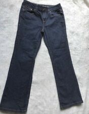 DKNY Women's Petite Dark Blue Wash Stretch Bootcut Mid Rise Denim - Size 10L