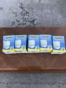 5 pack Tetra Carbon Filters Medium 20 total pieces  Fit Whisper EX20 Cartridge