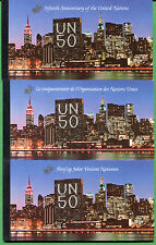 UNITED NATIONS Prestige Booklet - 3x each 50th USA Egypt Spain 12 total