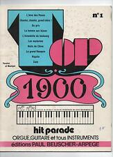 TOP 1900 Hit parade n°1 orgue, guitare et tous instruments - P. Beuscher - NEUF