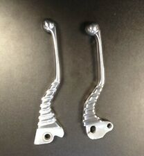Brake & clutch 'dog leg' levers alloy (pair) for Vespa PX (disc model)