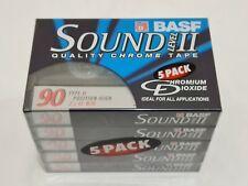 More details for rare 5 pack basf sound level ii quality chrome tape 90 cassette chromium dioxide