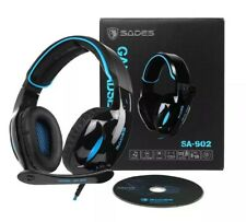 SADES SA-902 7.1 Sound Effect Stereo Gaming Headset Headphones Mic UK