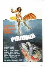 Piranha Poster 01 Metal Sign A4 12x8 Aluminium