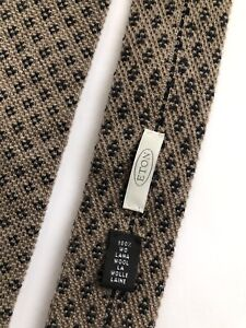 Eton Tie Made in Italy 100% Lana Wool Brown