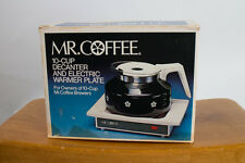 Vintage Mr Coffee WD-10 - 10 Cup Decanter With Electric Warming Plate - With Box