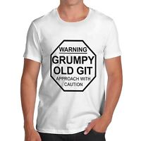 Twisted Envy Men's Warning Grumpy Old Git Funny T-Shirt