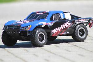 Traxxas 58076 -4 Blue Slash Vxl Brushless short Course Truck 1:10 Tsm New Boxed