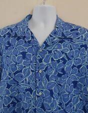 Men's POLO Ralph Lauren Short Sleeve Button Down 👓BLUE HAWAIIAN Camp Shirt~ L